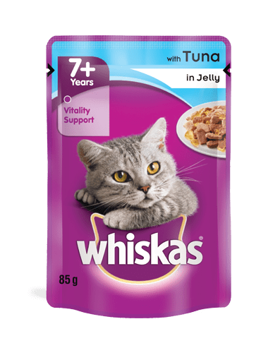 WHISKAS® Senior 7+ with Tuna in Jelly