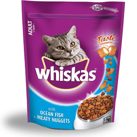 1KG Whiskas® with Ocean Fish and Meaty Nuggets 1 Year +