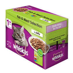85g x 12 Whiskas® Fish and Meat selection 1 Year +